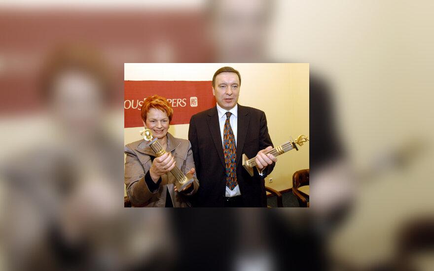 Ona Balžekienė ir Julius Kvaraciejus