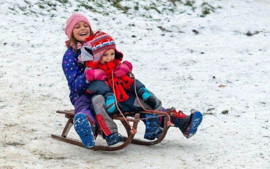 Vaikai žiemą