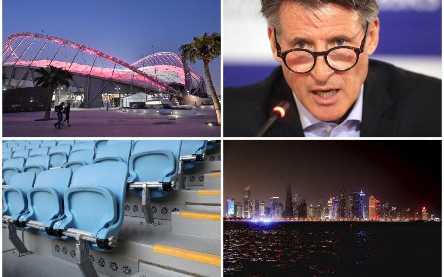Pasaulio lengvosios atletikos čempionatas Dohoje, IAAF prezidentas Sebastianas Coe