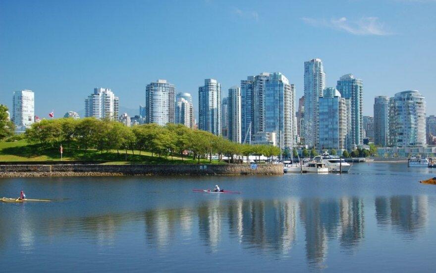 Vankuveryje dangoraižiai puikiai dera su žaliomis laisvalaikio ir pramogų zonomis