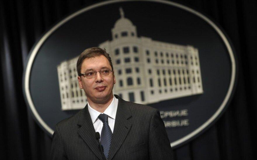 Serbijos vicepremjeras Aleksandras Vučičius