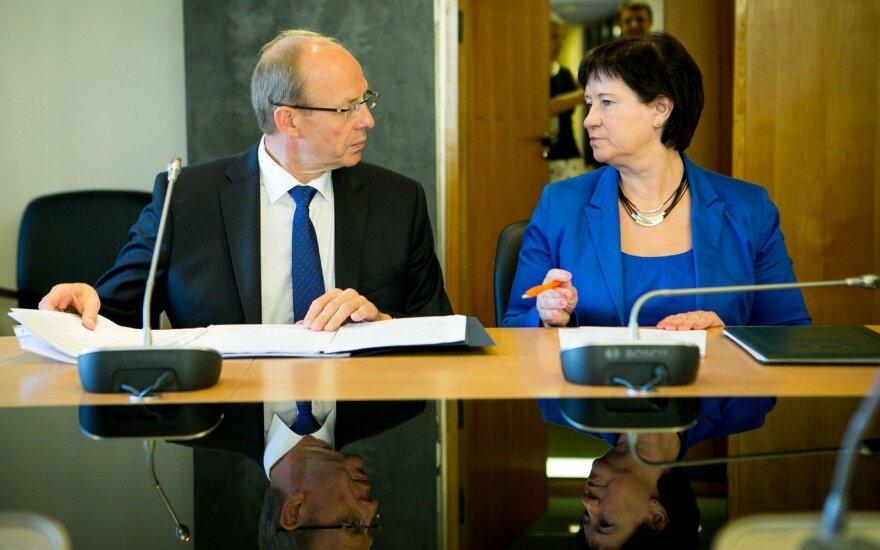 Jonas Milius and Agriculture Minister Virginija Baltraitienė