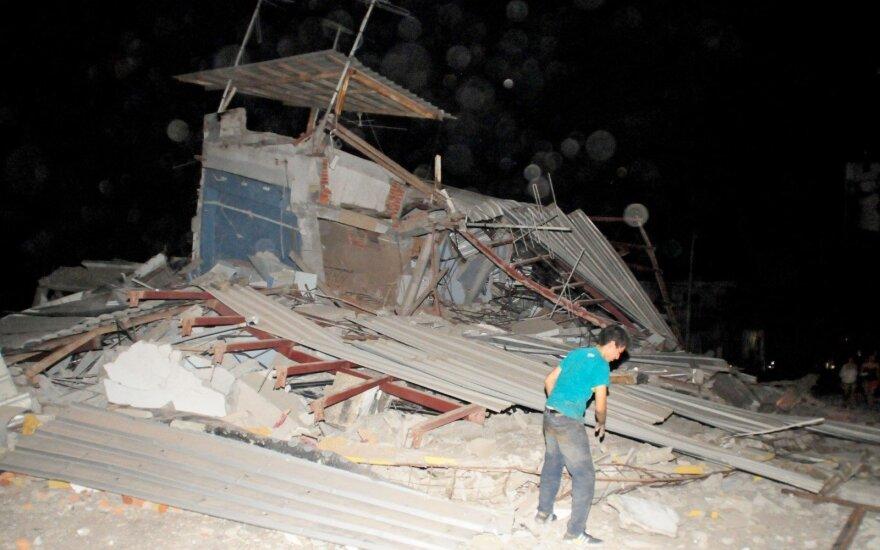 Pietų Ekvadorą sudrebino galingas žemės drebėjimas