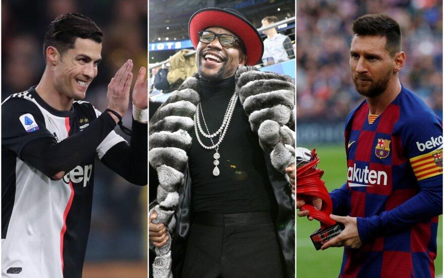 Cristiano Ronaldo, Floydas Mayweatheris, Lionelis Messi
