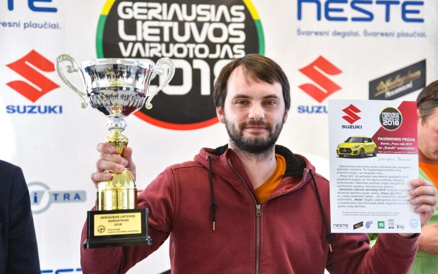 """Dominykas Danys, laimėjęs konkursą """"Geriausias Lietuvos vairuotojas 2018"""""""
