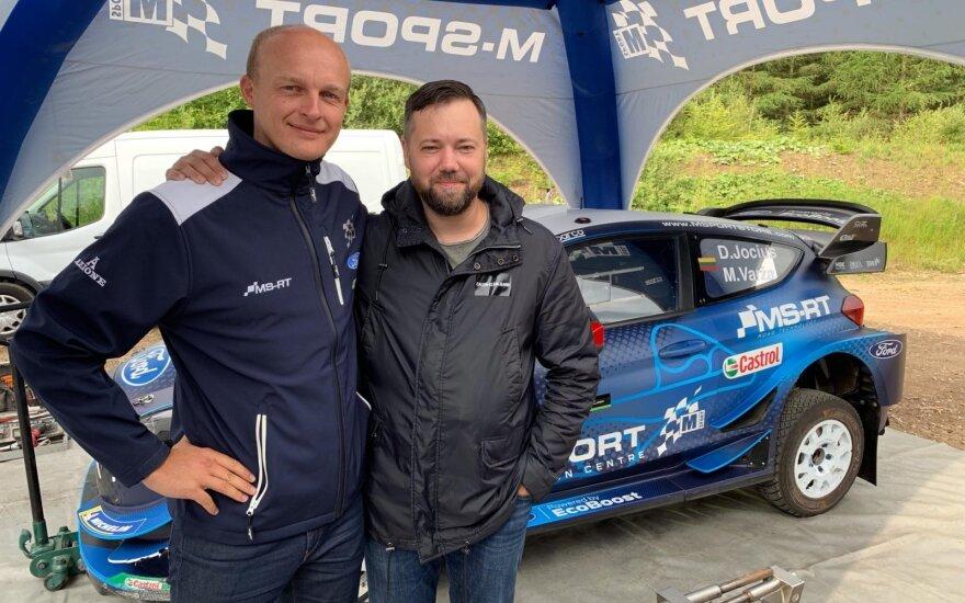 """Deividas Jocius išbandė WRC skirtą """"Ford Fiesta"""""""