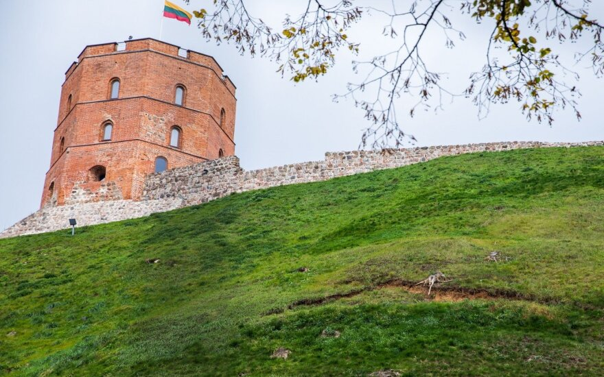Gedimino kalno šlaite atrastas naujas bokštas