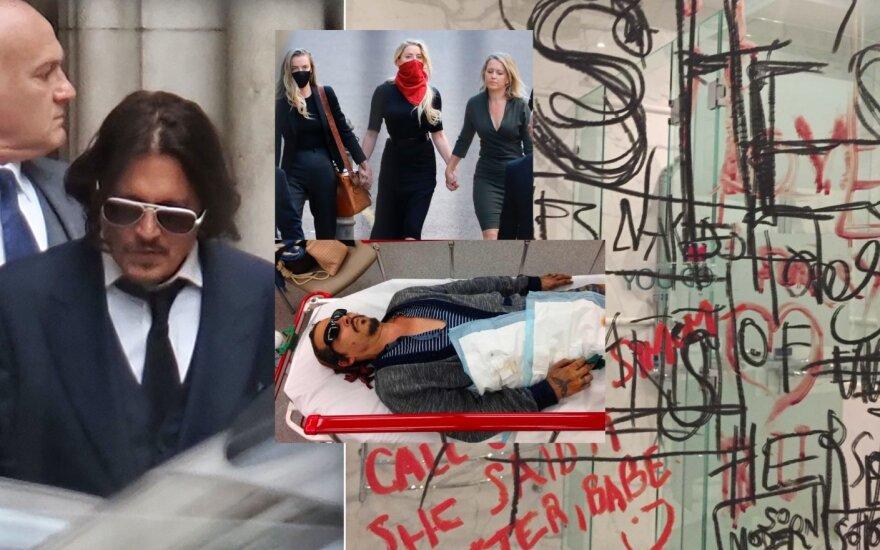 Johnny Deppo ir Amber Heard teismas /Foto: Vida press, Scanpix