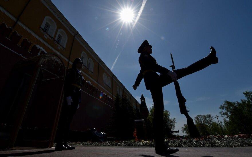 Rusijos garbės kuopos karys prie Kremliaus