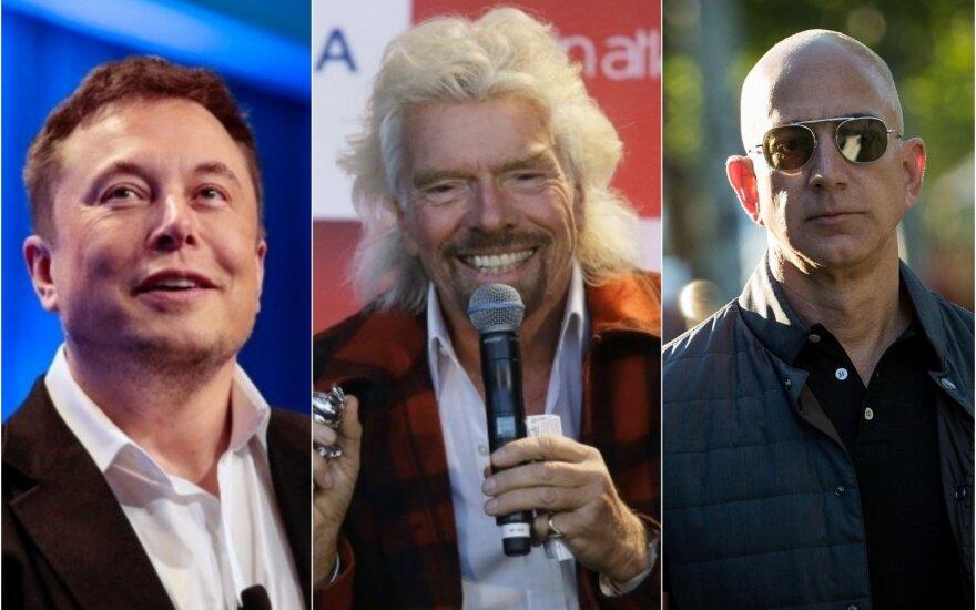 Trys milijardieriai nori į kosmosą