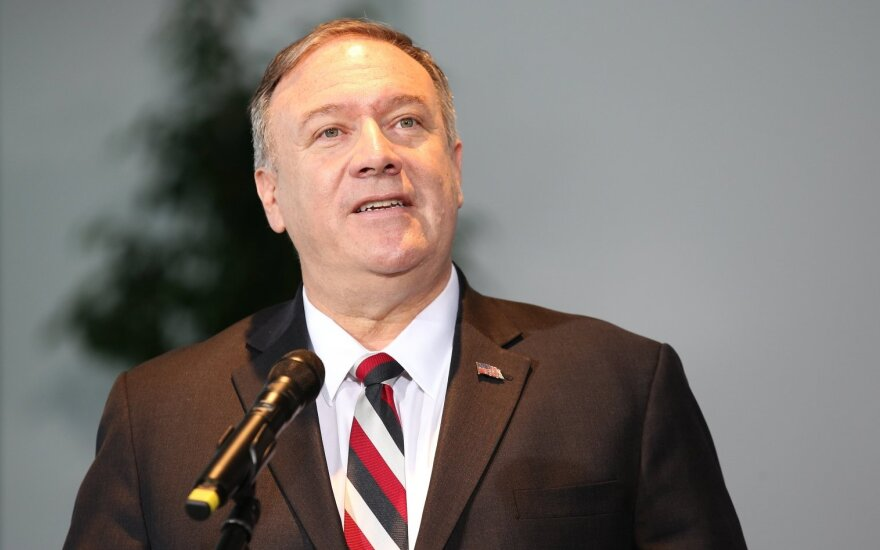 JAV valstybės sekretorius M. Pompeo Havajuose susitiks su aukštų Kinijos diplomatu