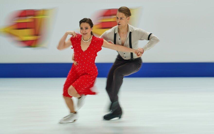 Europos čempionate – galingas Lietuvos šokių ant ledo poros startas
