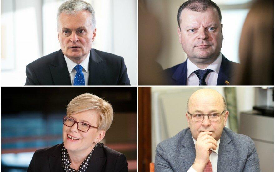 Gitanas Nausėda, Saulius Skvernelis, Ingrida Šimonytė, Visvaldas Matijošaitis