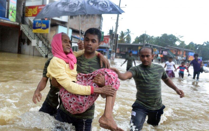 Šri Lankoje musono aukų padaugėjo iki 164