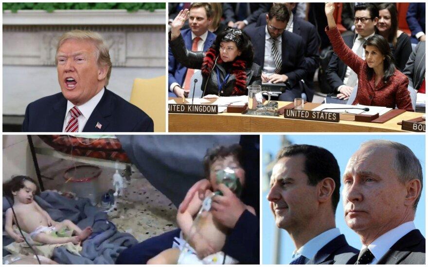 Per žingsnį nuo veiksmų: kokius taikinius JAV gali pasirinkti Sirijoje ir kuo atsakys Rusija?