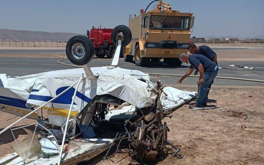Egipte sudužus lengvajam lėktuvui žuvo du pilotai