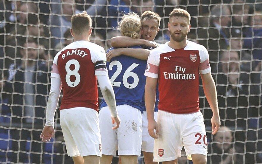 Arsenal ir Everton komandų akistata