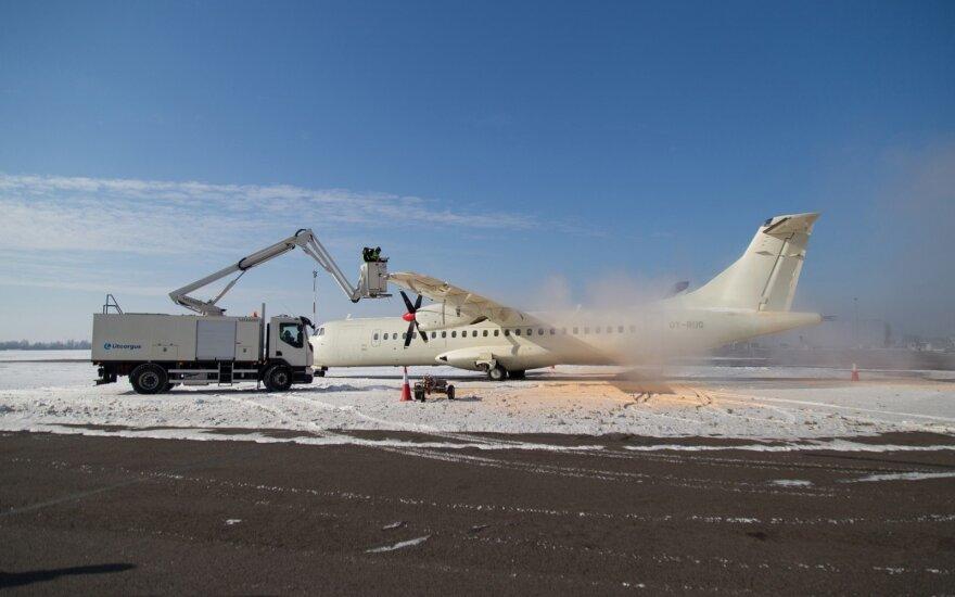 Kauno oro uostas parodė nuledinimo mašiną už 350 tūkst.