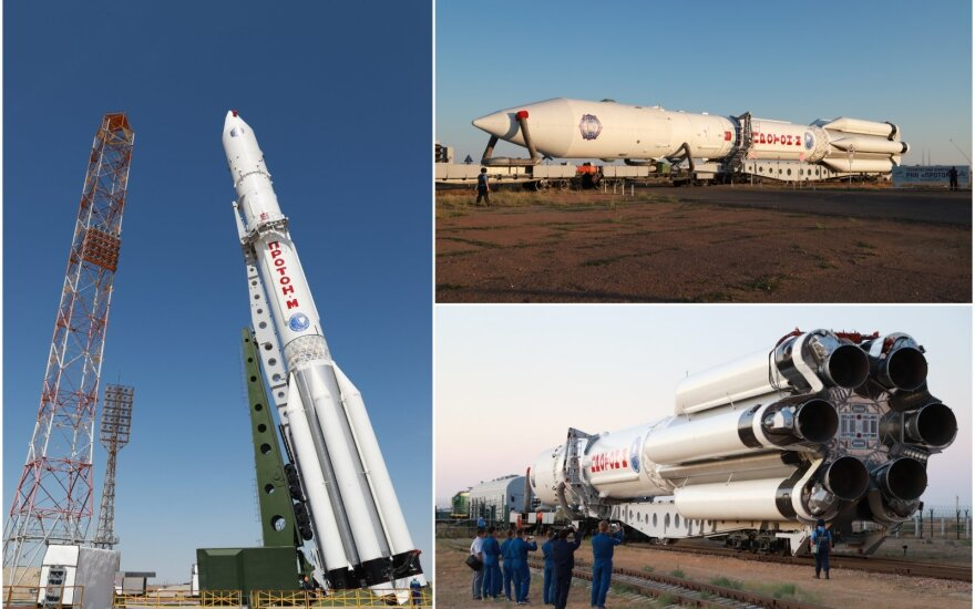 Nešančioji raketa pakils iš Baikonūro kosmodromo Kazachstane.