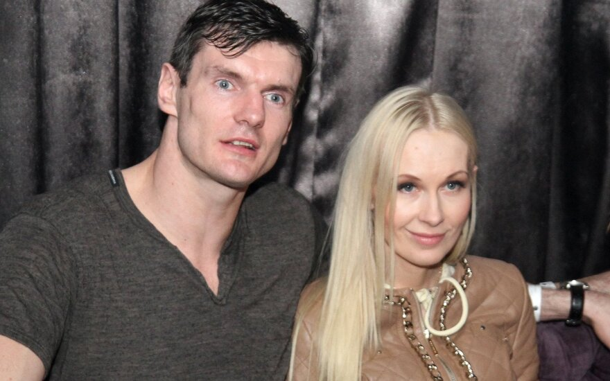 Darjušas Lavrinovičius su žmona
