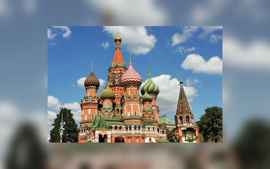Vienas labiausiai fotografuojamų pastatų Maskvoje - Palaimintojo Vasilijaus soboras