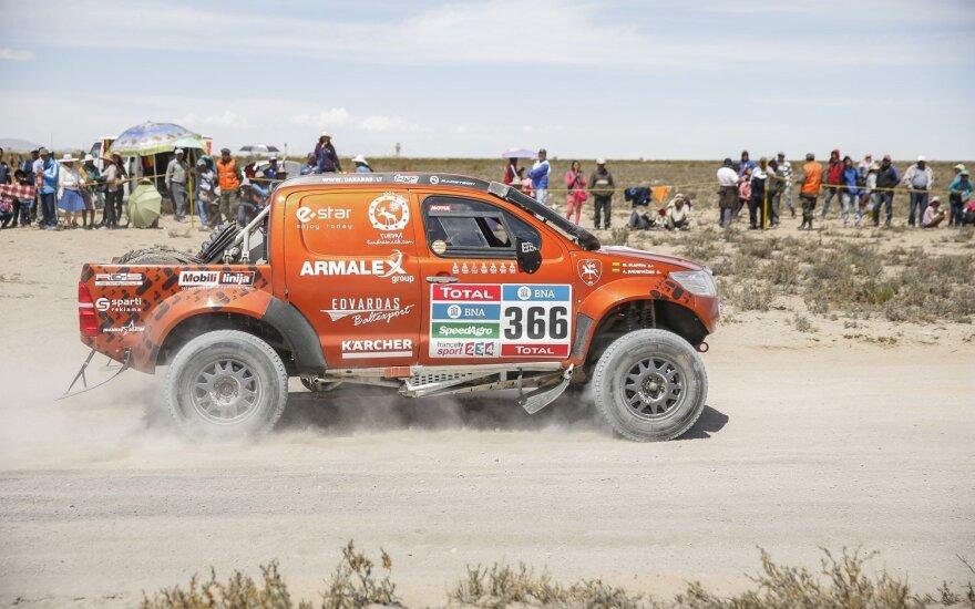 A. Juknevičiui skrieti Dakaro ralyje padės D. Vaičiulis