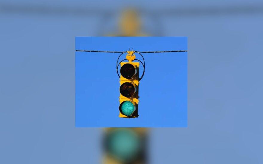 šviesoforas, eismas, gatvė