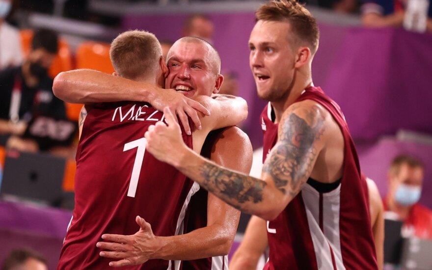 Latvijos ir Belgijos komandų pusfinalis