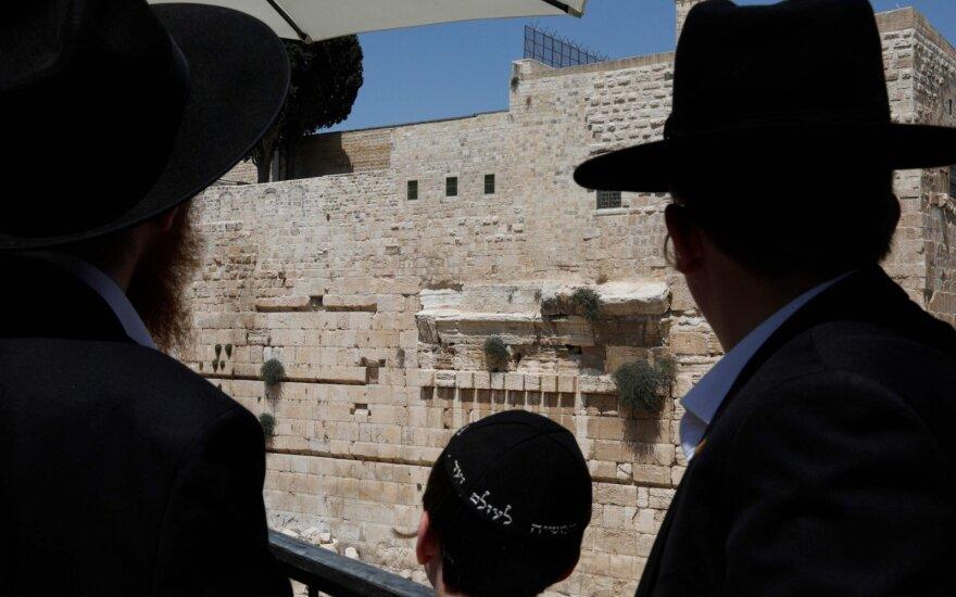 Jeruzalėje nukrito Raudų sienos blokas