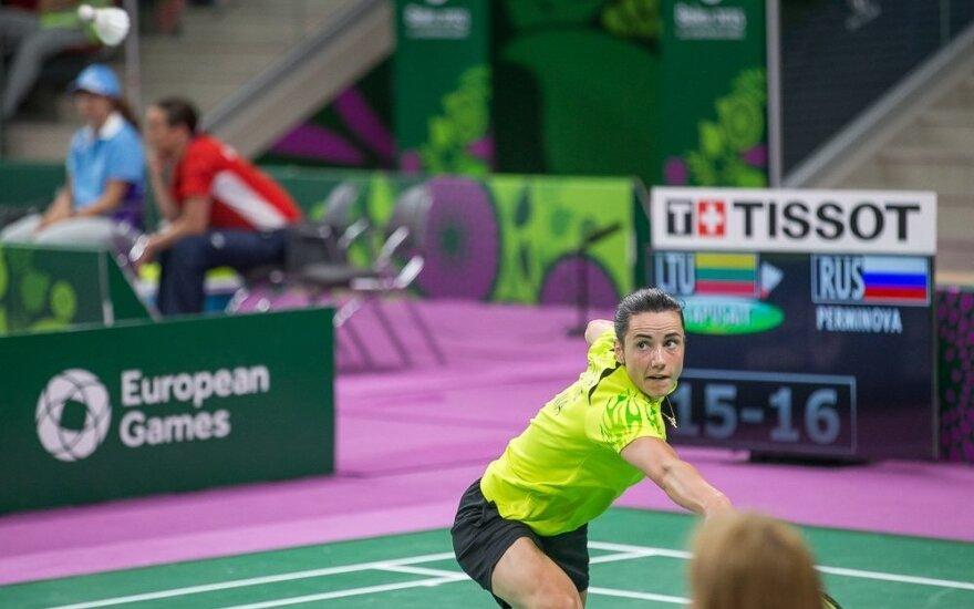 Badmintono turnyre JAV – netikėta A. Stapušaitytės nesėkmė
