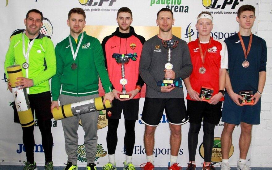 Padelio teniso turnyro Vilniuje prizininkai (Z. Grigonienės nuotr.)