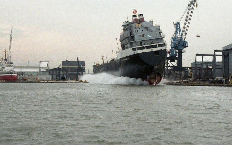 Paaiškino, kodėl naujų laivų paleidimo metu gali įvykti katastrofos