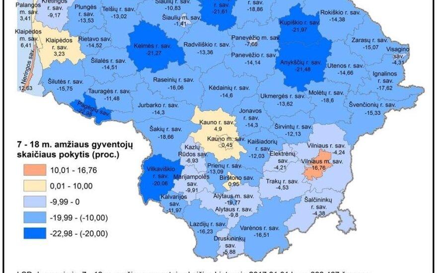 Jaunimo skaitlingumas Lietuvoje 2017-2021 m. (R. Tučo nuotr.)