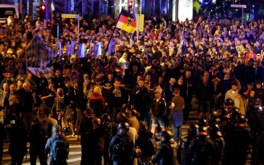 Per kraštutinių dešniųjų protestus Vokietijoje sužeisi 6 žmonės