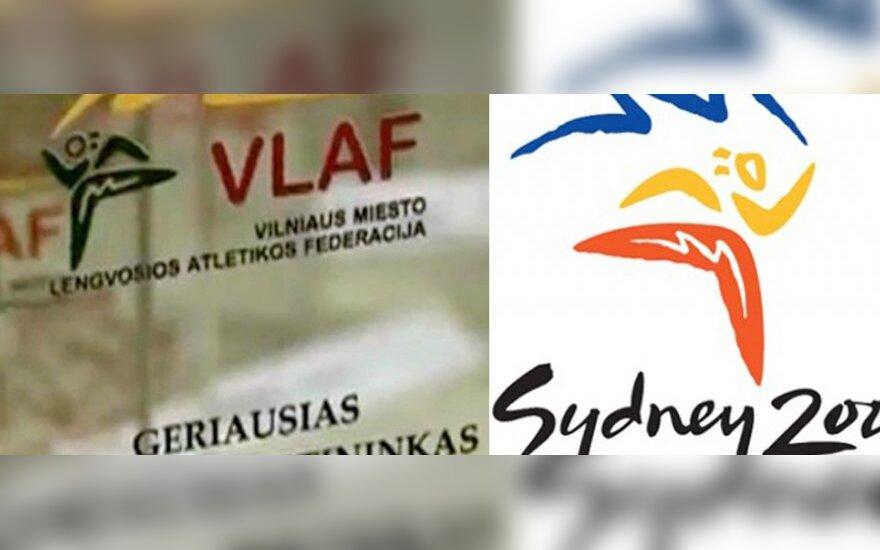 VLAF ir Sidnėjaus olimpinių žaidynių logotipai - tarsi klonuoti