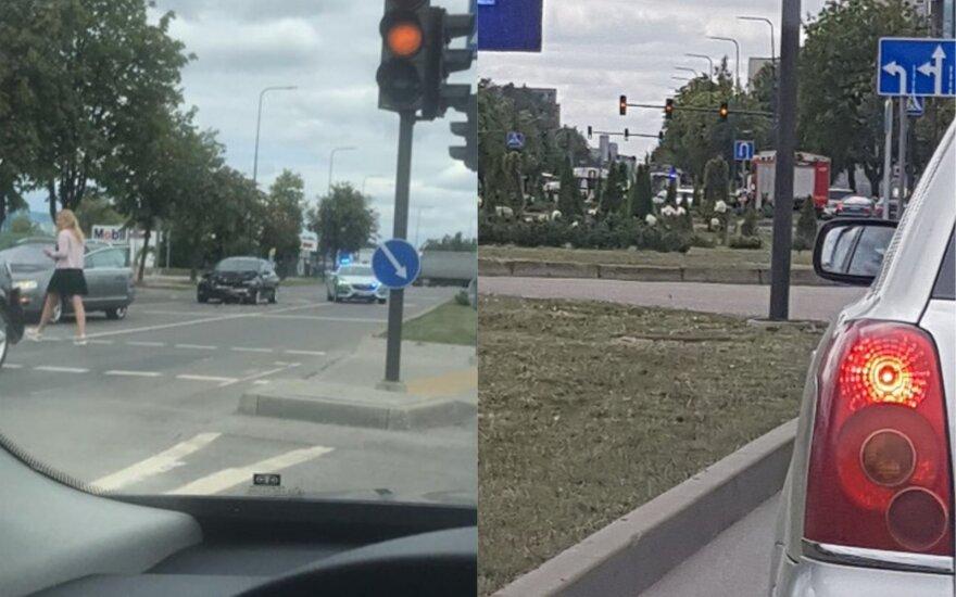 Kaune BMW sukėlė avariją: į ligoninę išgabentos dvi moterys ir mažametis vaikas