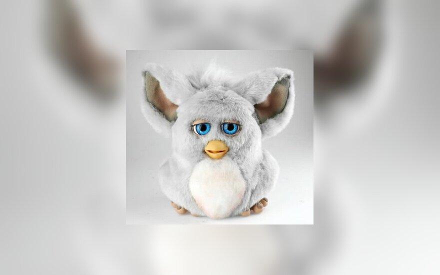 interaktyvus pliušinis žaislas, vardu Furby