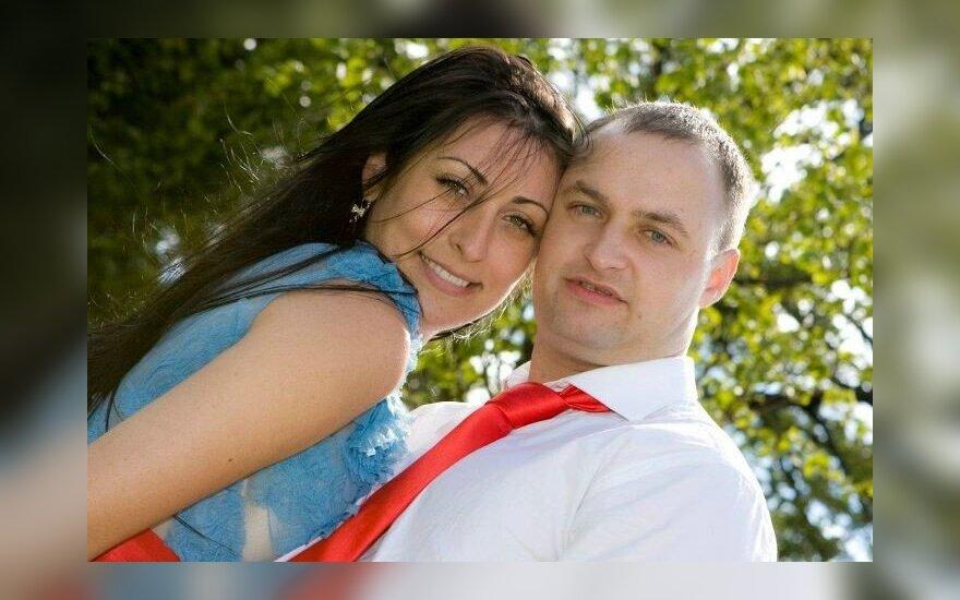 Laura Drižė su vyru