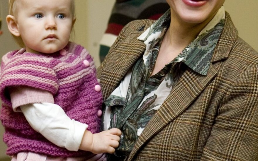 Aistė Jasaitytė su dukra