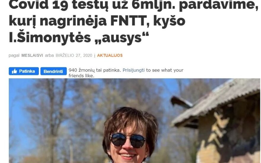"""Į FNTT tyrimą bandė įpainioti ir Šimonytę: nuotrauka feisbuke klaidingai tapo """"ausų"""" įrodymu"""