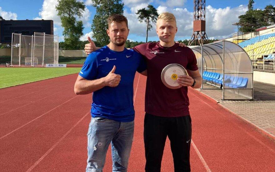 Mykolas Alekna (dešinėje) / Foto: M. Jusys