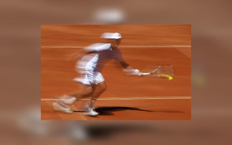 Tenisas, tenisininkas, sportas, judesys, judėjimas