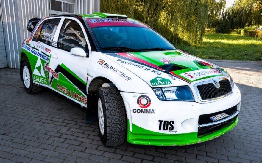 R. Čapkauskas persėdo į Škoda Fabia WRC automobilį
