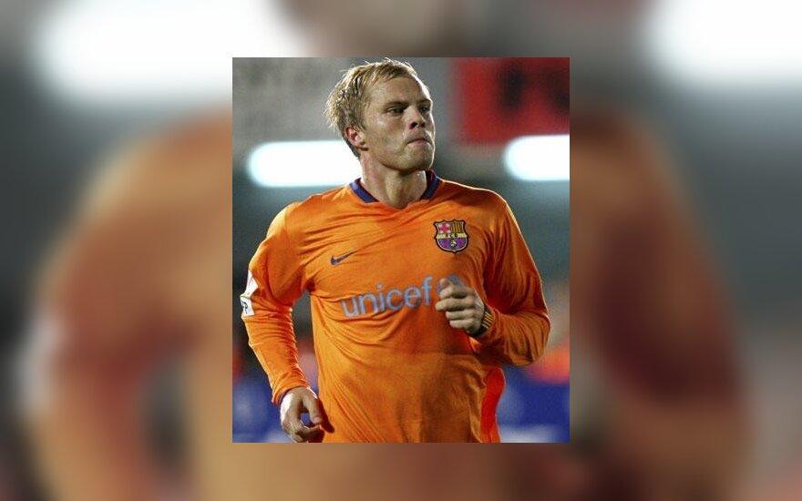 "E.Gudjohnsenas atstovavo ""FC Barcelona"" klubui"