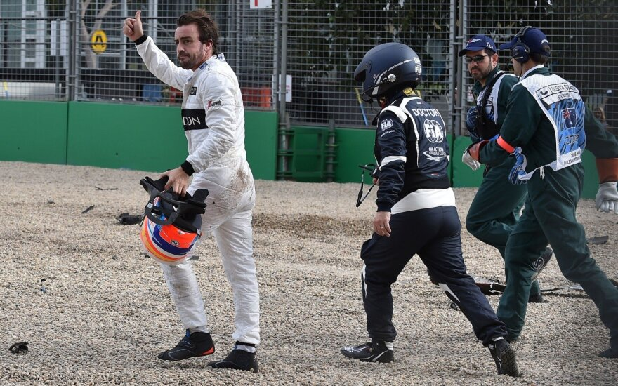 Fernando Alonso avarija