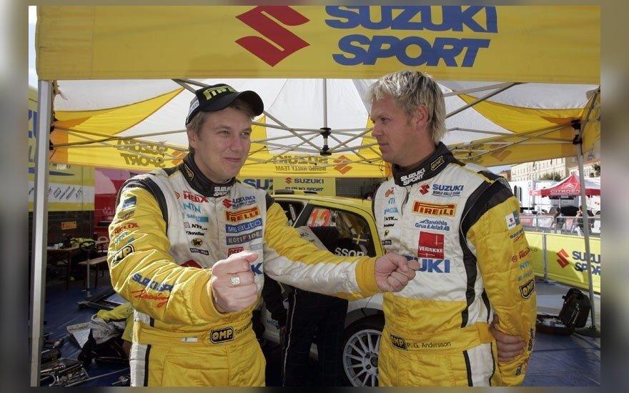 """""""Samsonas Rally Rokiškis"""" varžybose startuos WRC legenda Toni Gardemeisteris (kairėje)"""