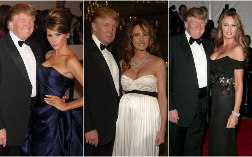 Donaldas Trumpas ir Melania Trump Met Gala renginyje