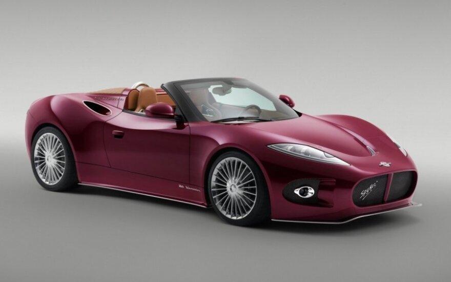 """Aukcione bus išparduodamas """"Spyker"""" turtas"""