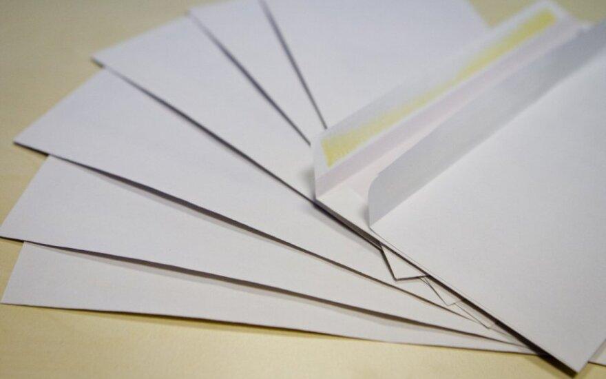JAV vyriausybė fotografuoja visus šalyje siunčiamus laiškus