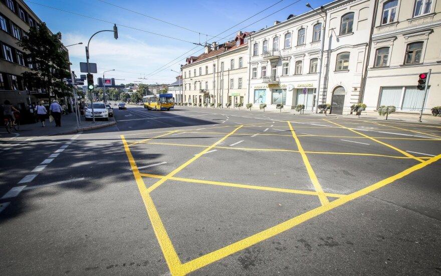 Vilniaus sankryžose – naujas ženklinimas
